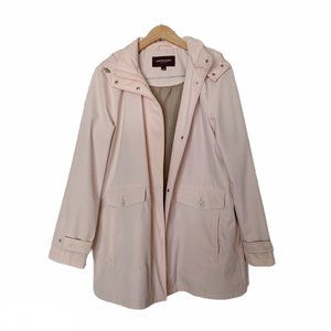 Johnston & Murphy Baby Pink Rain Hooded Jacket L
